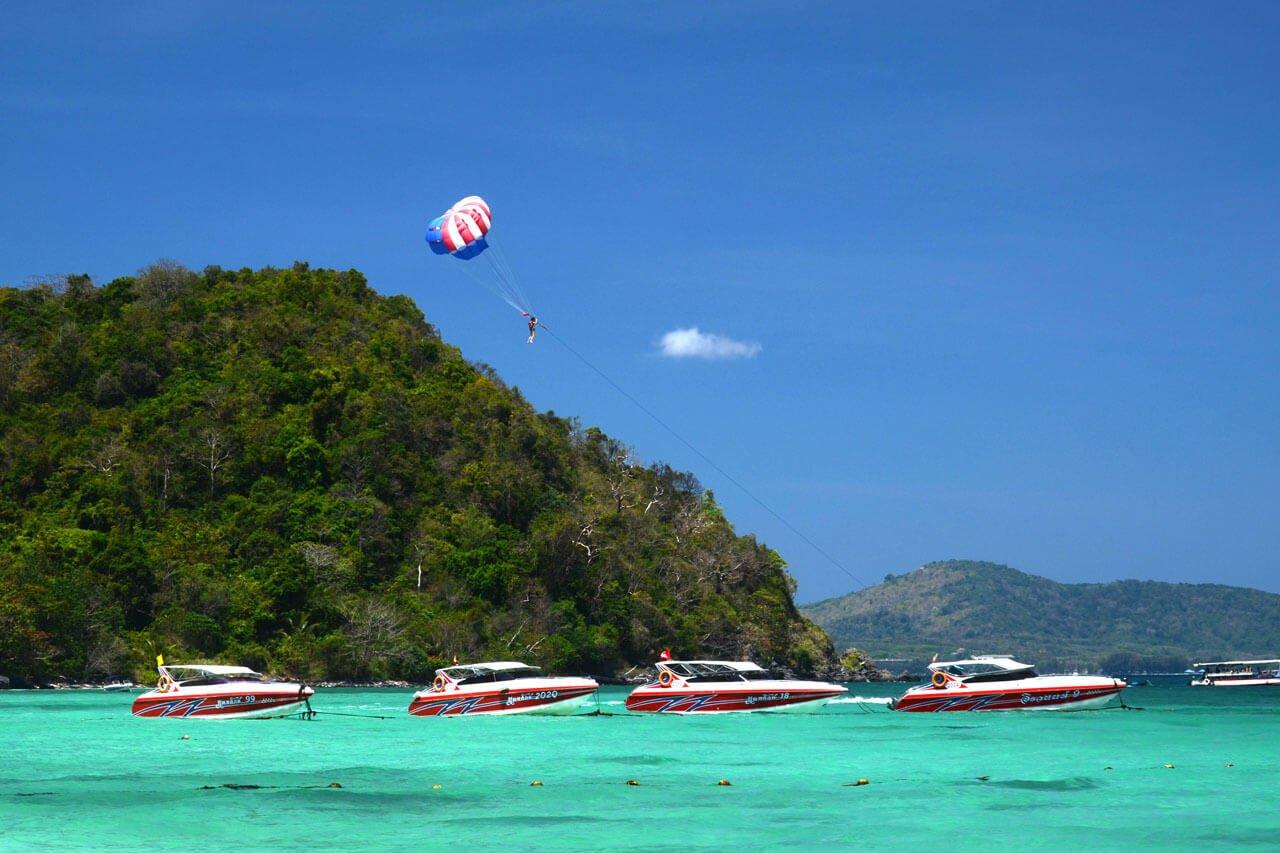 Parasailing at Coral Island Phuket