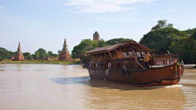 Ayuthaya Mekhala Cruise 2 Days 1 Night Boat and Biking