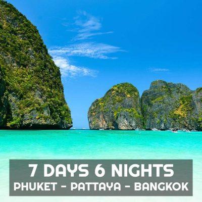 7 Days 6 Nights Phuket Bangkok Pattaya Tour Package