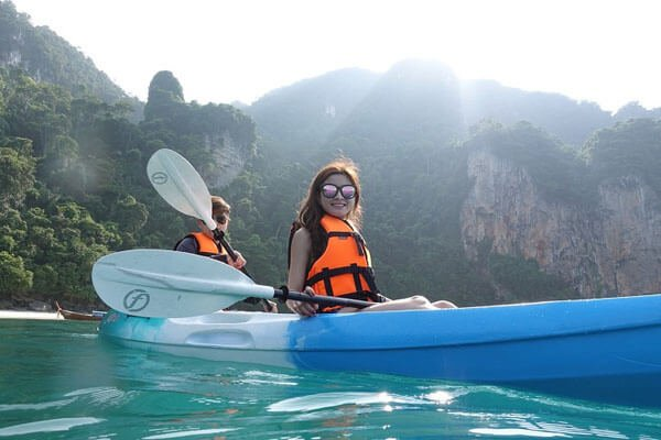 Sunset Cruise Phi Phi Island and Maithon Island by Power Catamaran