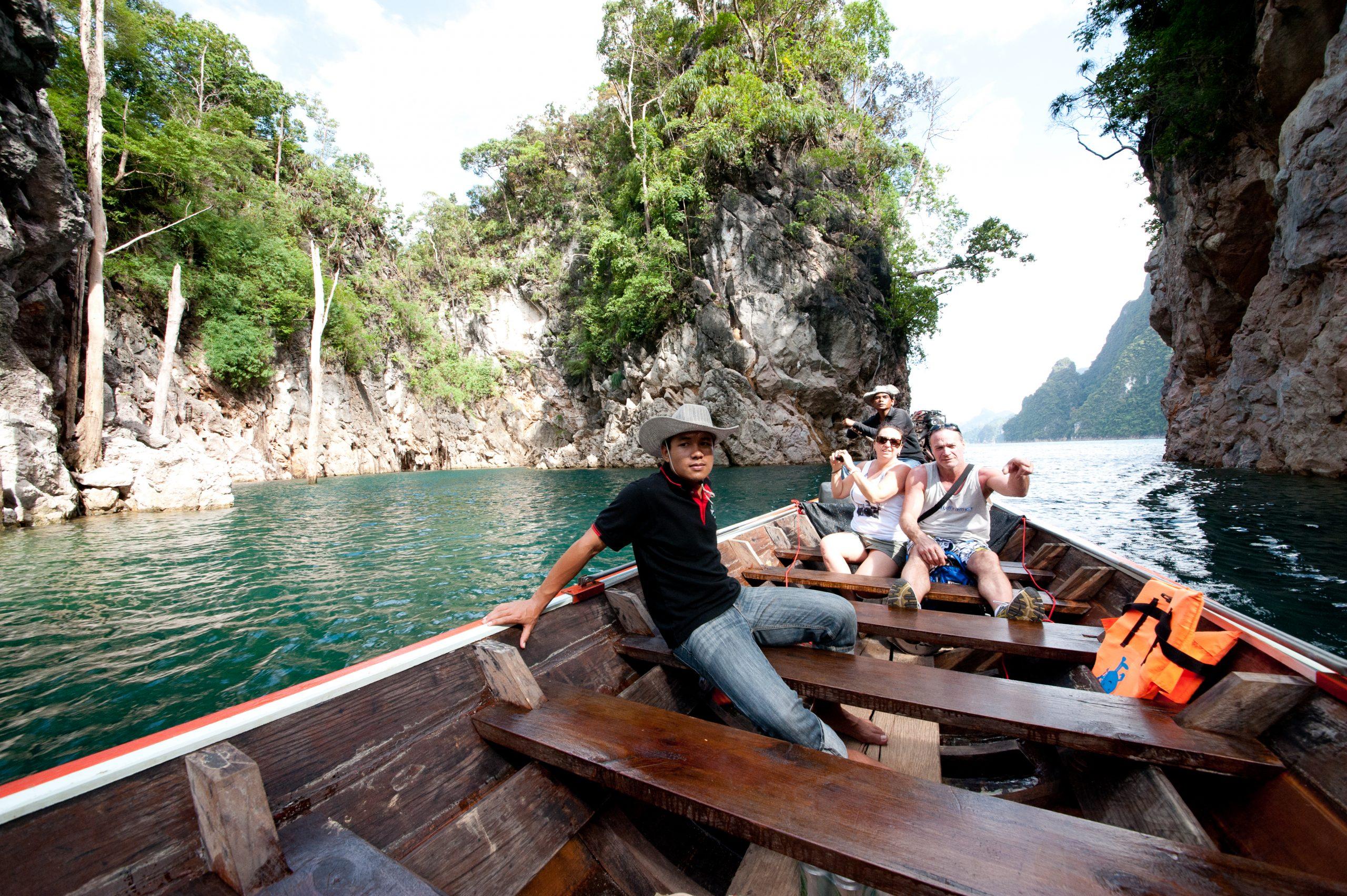 Cheow Lan Lake Long Tail Boat Sightseeing