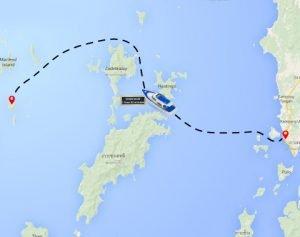 Nyaung Oo Phee Island Maynmar Map